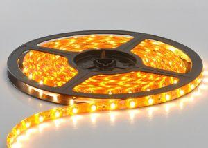 Лента светодиодная SMD-3528 влагозащищенная оранжевая